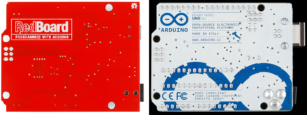 RedBoard vs  Uno - learn sparkfun com