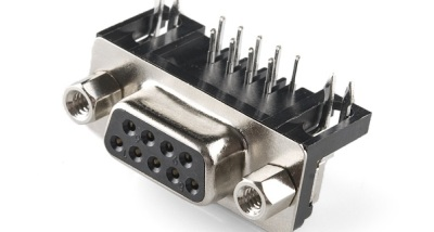 Female board-mount DE9 connector