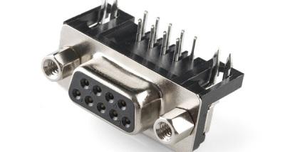 Female board-mount DE9 connector