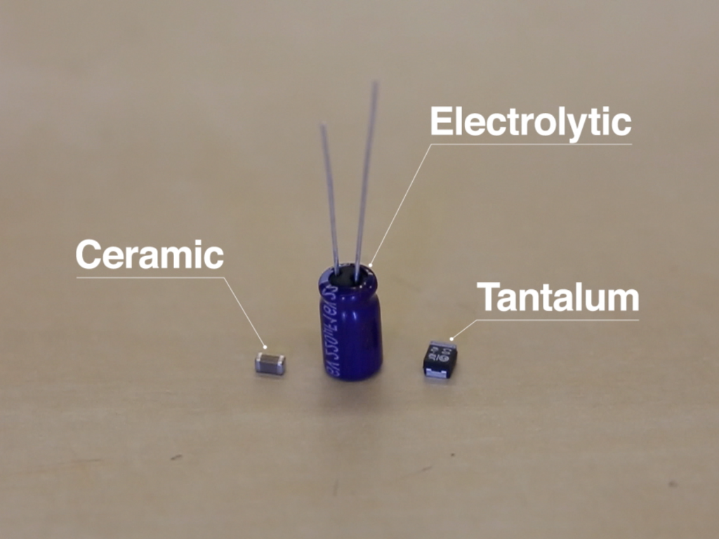 Why You Should De Rate Capacitors News Sparkfun Electronics Test Capacitor In Circuit Ceramic Electrolytic And Tantalum On A Table