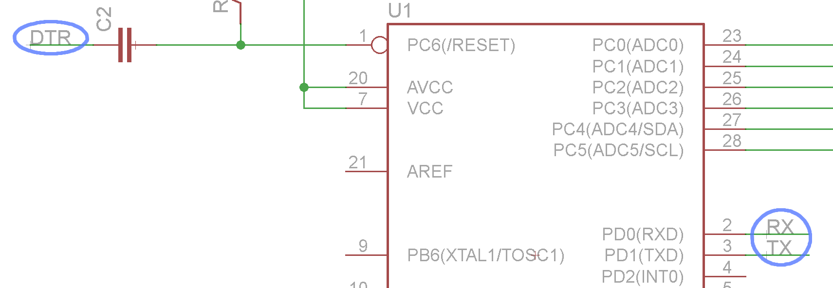 Making Pcbs In Eagle Circuit Symbols The List Above Covers Almost Every Symbol You Will Naming And Labeling Rx Tx Dtr