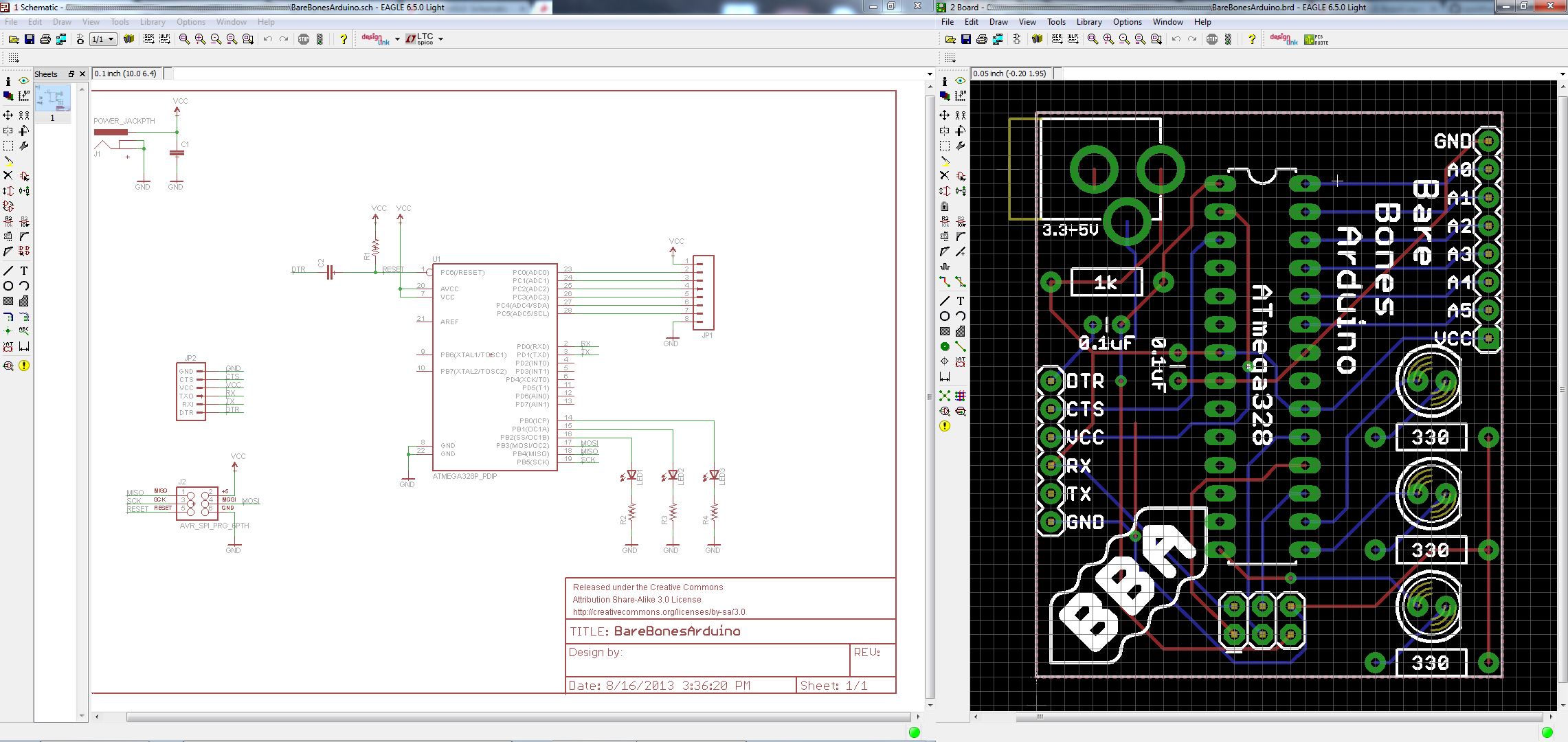 Using Eagle Schematic Of The Rs232 Adapter Click To Enlarge And Board Layout From Tutorials
