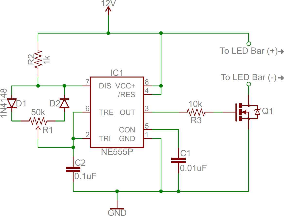 Led Light Bar Hookup Wiring Diagram For A Driver 555 Dimmer Circuit