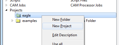 How to create a project folder