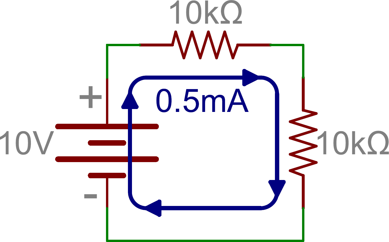 Series And Parallel Circuits My Circuit Is Almost Exactly Like B Here Schematic Two Resistors In With A Battery
