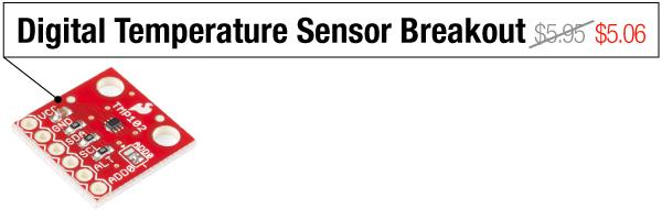 Digital Temperature Sensor Breakout - Was $5.95, now $5.06