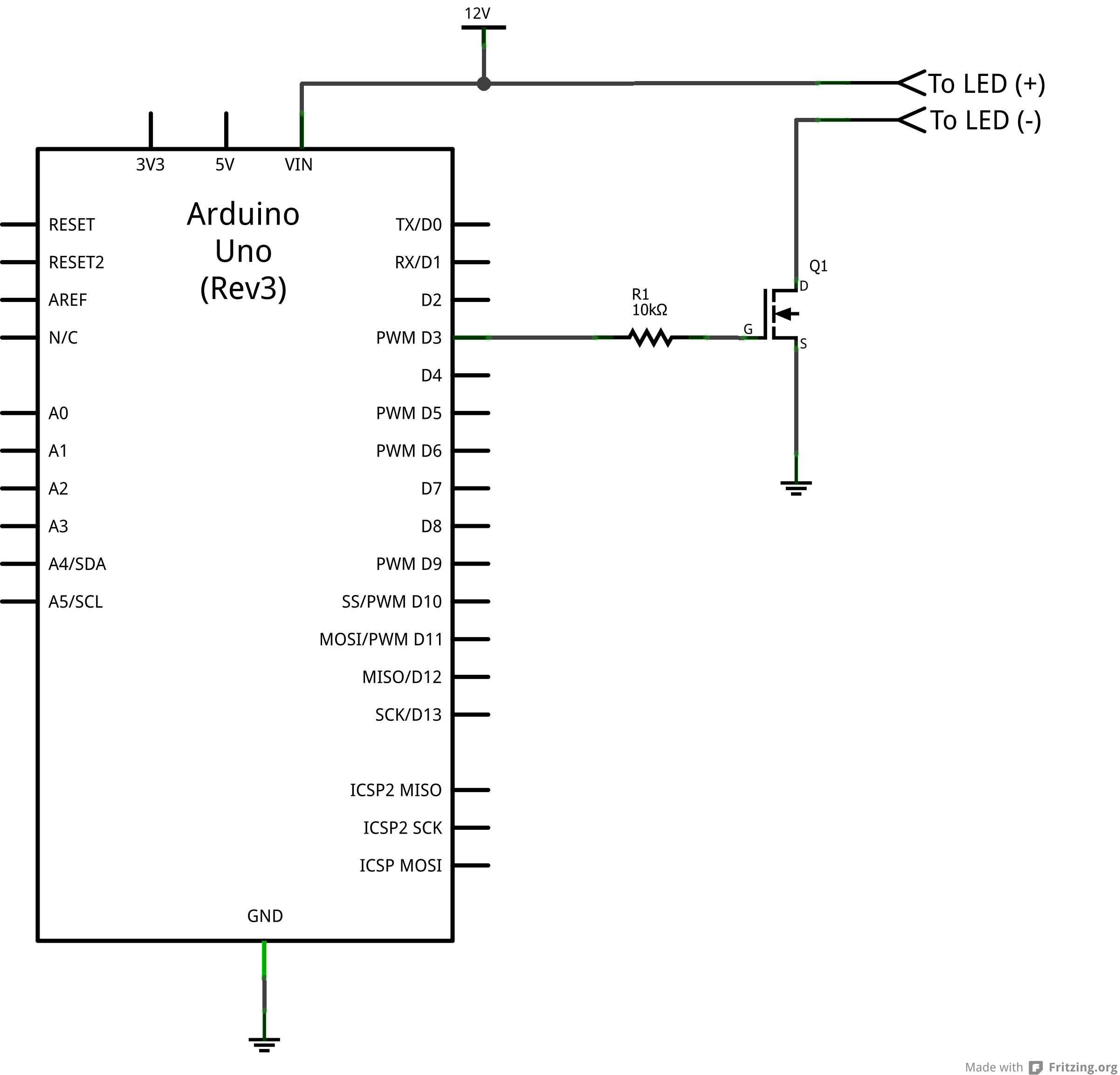 Led Light Bar Hookup Rgb Wiring Diagram Arduino Mosfet Circuit Make Sure The Positive
