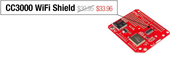 CC3000 WiFi Shield - Was $39.95, now $33.96