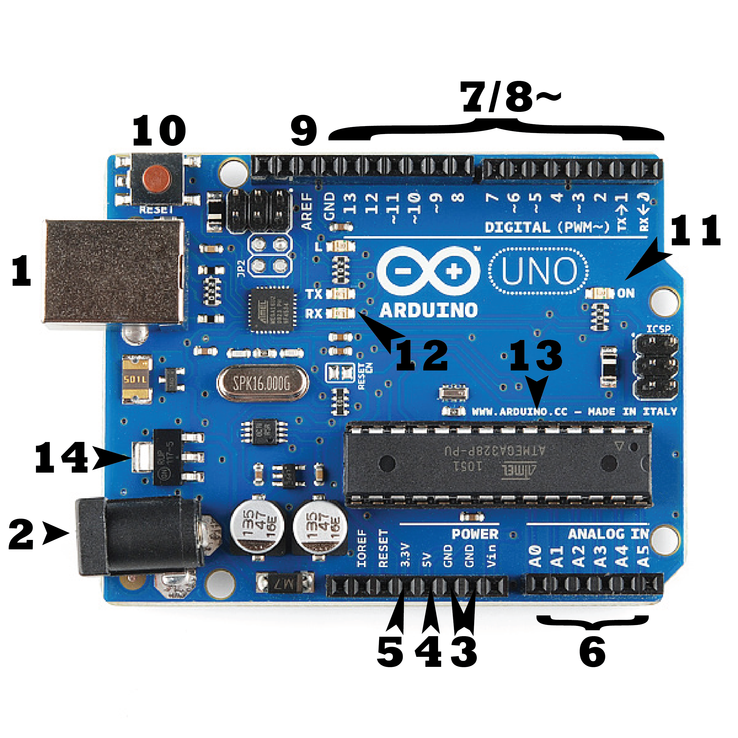 What Is An Arduino Mobile Phone Circuit Board Logos Serials Power Usb Barrel Jack Every