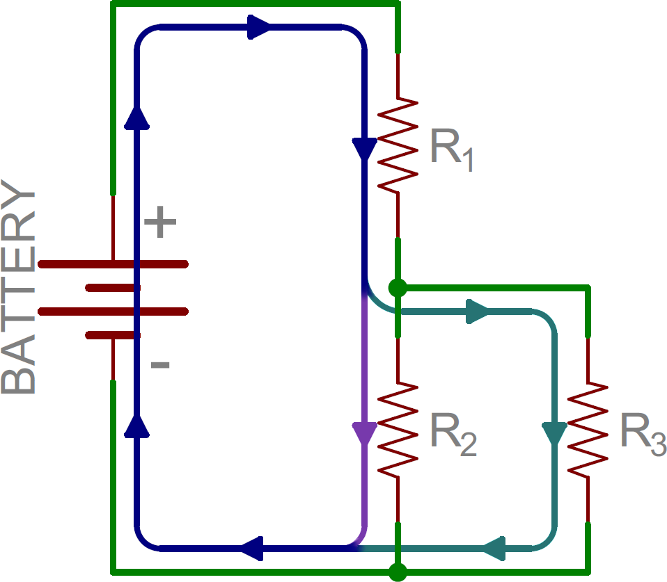 Series and Parallel Circuits - learn.sparkfun.com on series vs. parallel subwoofer diagram, parallel circuit diagram, batteries in parallel diagram, series and parallel electrical wiring, series circuit diagram, series parallel speaker wiring calculator,