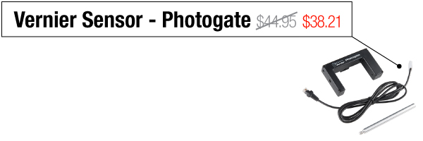 Vernier Sensor Photogate - Was $44.95, now $38.21