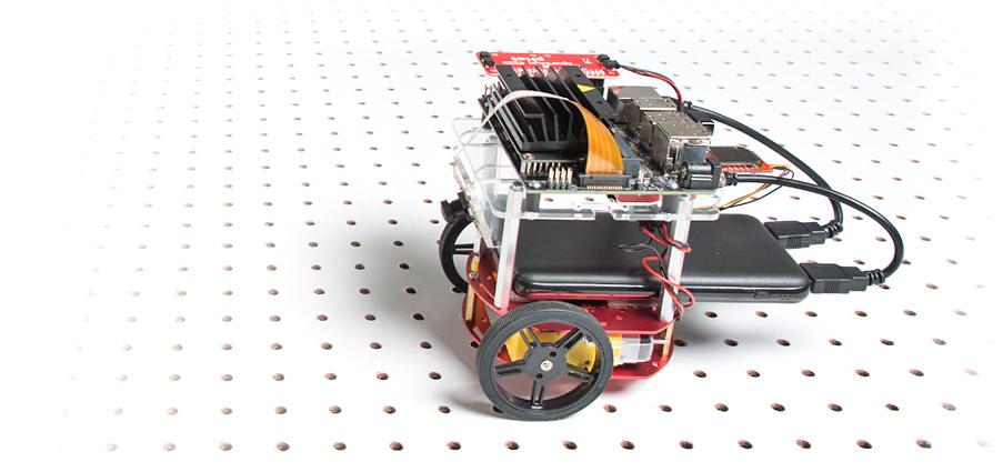NVIDIA Jetson Nano Developer Kit and SparkFun JetBot AI Kit