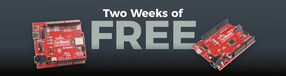 2 Weeks of Free - SparkFun Electronics