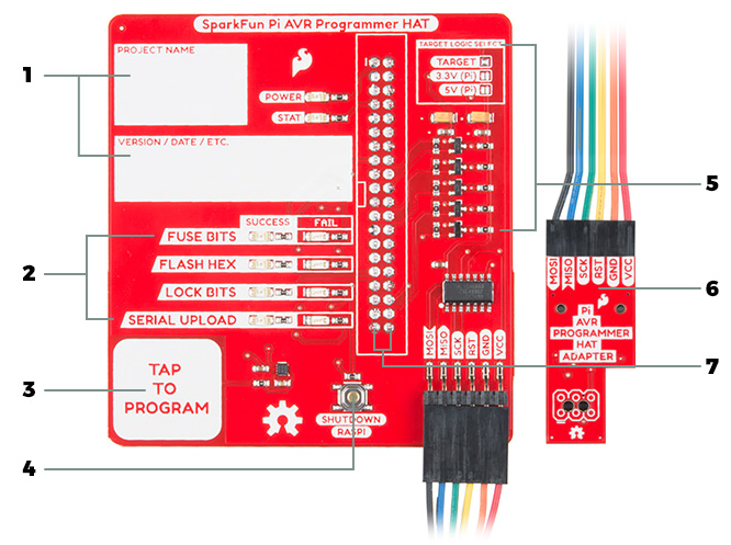 Pi AVR Programmer HAT features