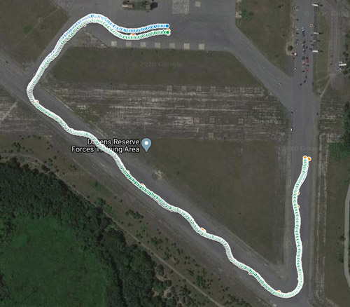 GPS autocross pins