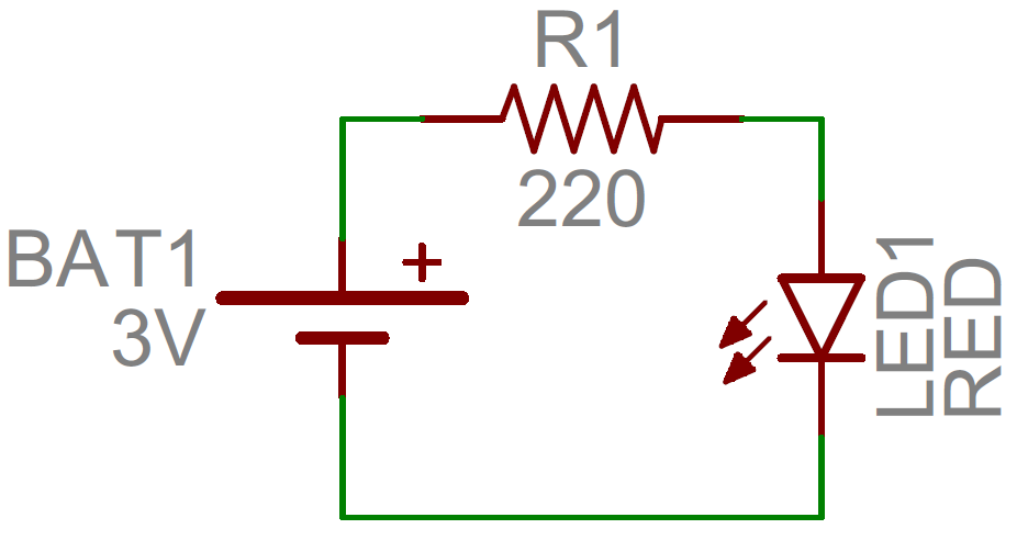 how to read a schematic learn sparkfun com rh learn sparkfun com basic circuit diagram for series type ohmmeter basic circuit diagram of transistor