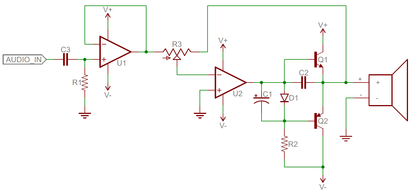 Analog Vs Digital Lowpower Amplifier With Volume Control Amp Circuit Diagram Example