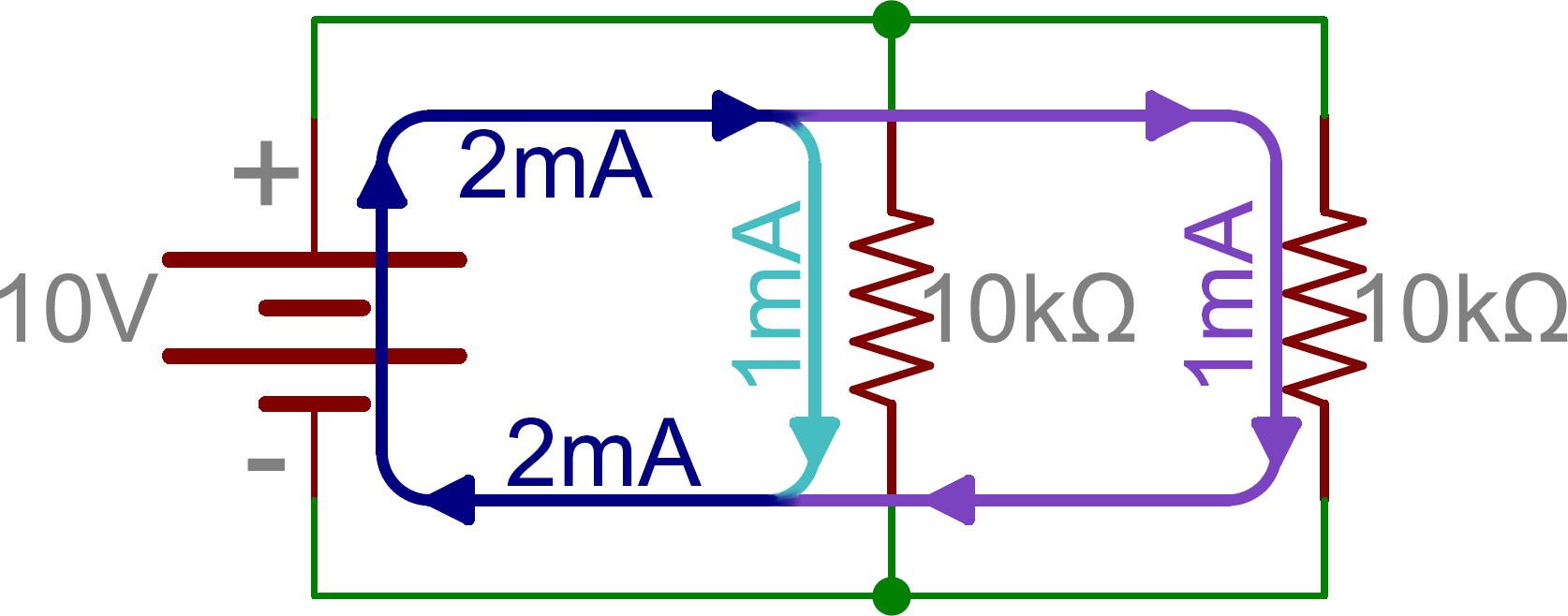 series and parallel circuits learn sparkfun com schematic two parallel resistors in parallel a battery