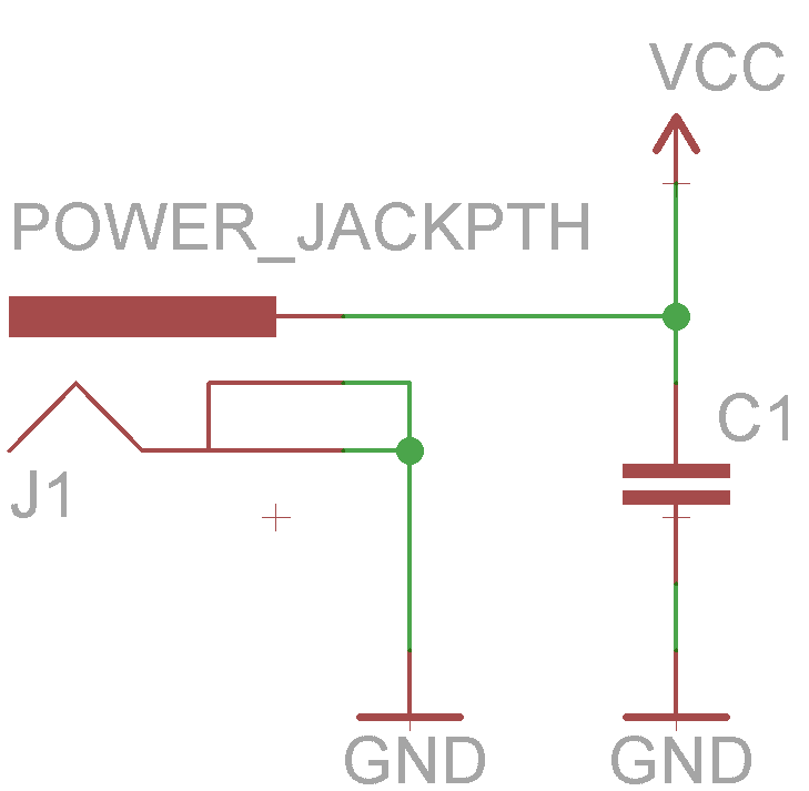 using eagle schematic learn sparkfun com power circuit wired up