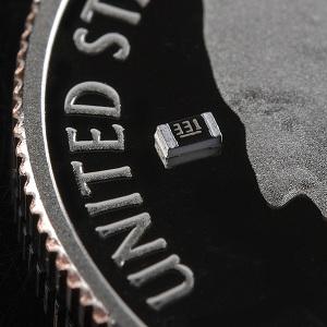SMD resistor on a quarter