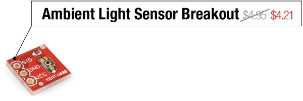 Ambient Light Sensor Breakout - Was $4.95, now $4.21