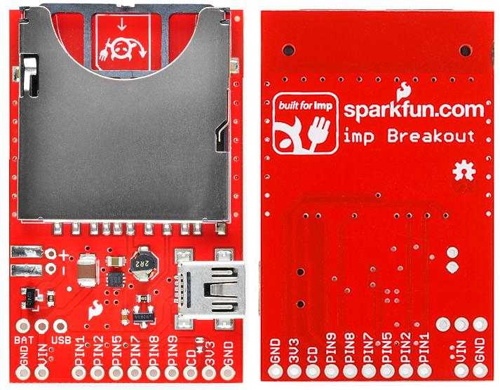 Top/bottom view of imp breakout