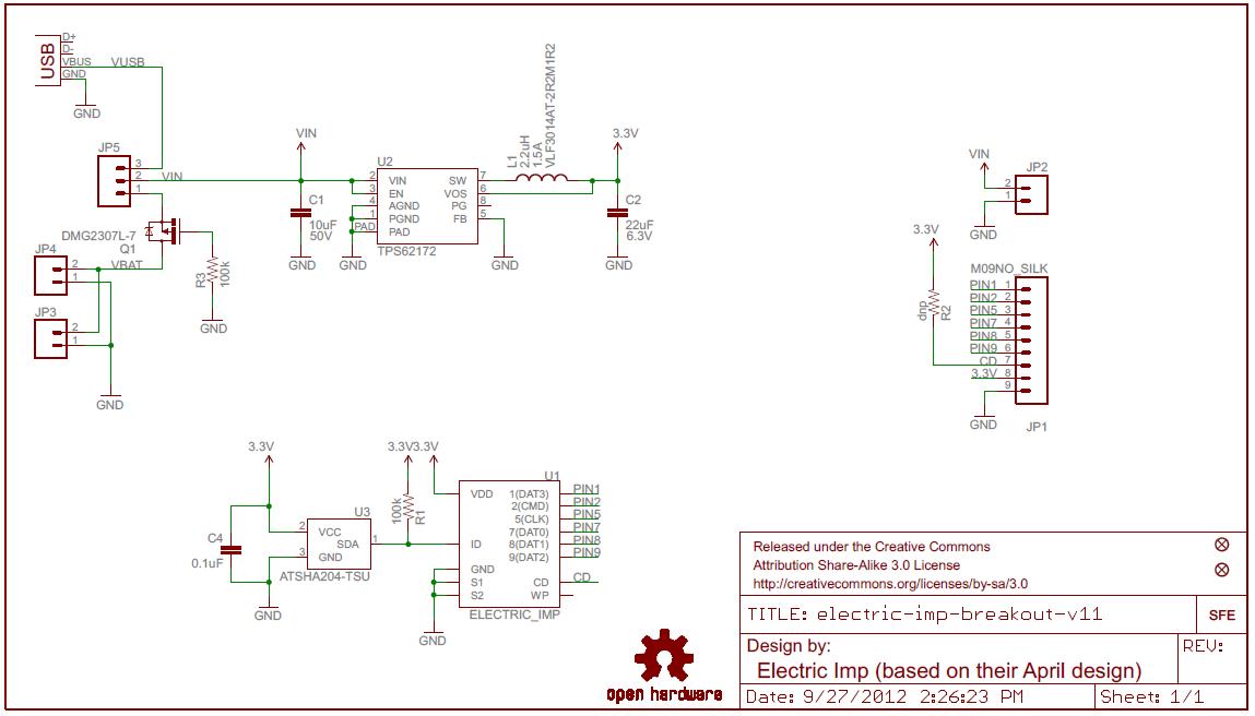 Electric Imp Breakout Schematic