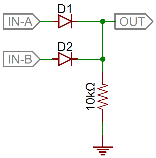 diodes learn sparkfun comdiode 2 input or gate schematic