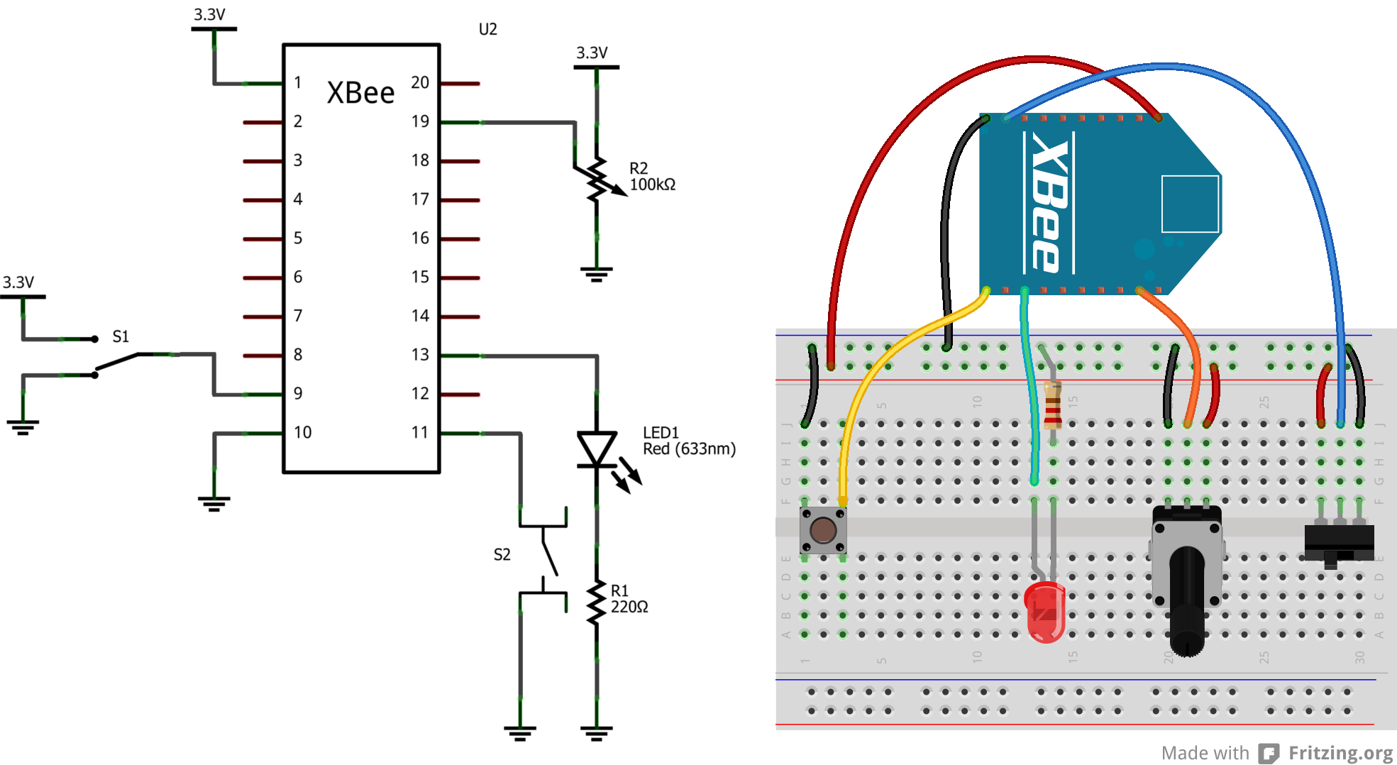 Circuit Diagram Of Zigbee Module Wiring Library Electronic Door Bell Engineersgarage Xbee Cloud Breadboard