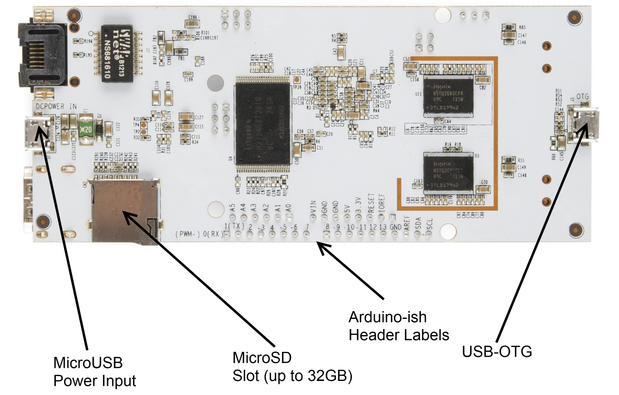 Pcduino Hookup Guide Micro Usb Mouse Wiring Diagram Bottom Side Connections And Hardware Microusb