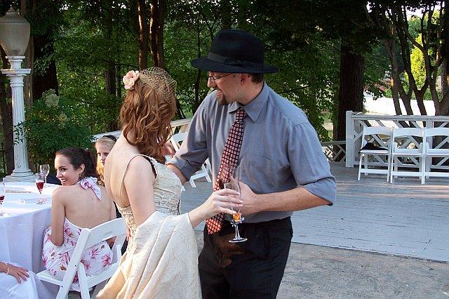 Lou dancing at my wedding