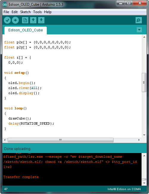 Arduino screenshot