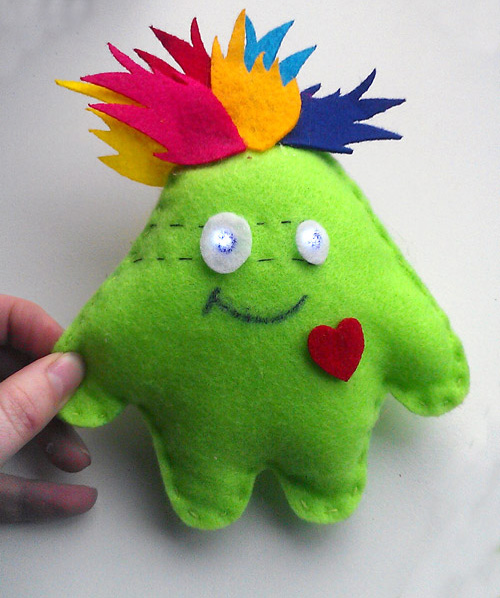 An example of the LilyTiny plush monster