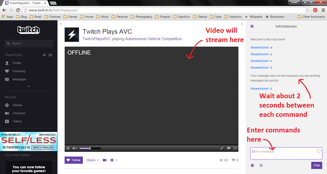 twitch plays avc news sparkfun electronics
