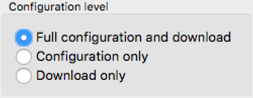 Configuration level options
