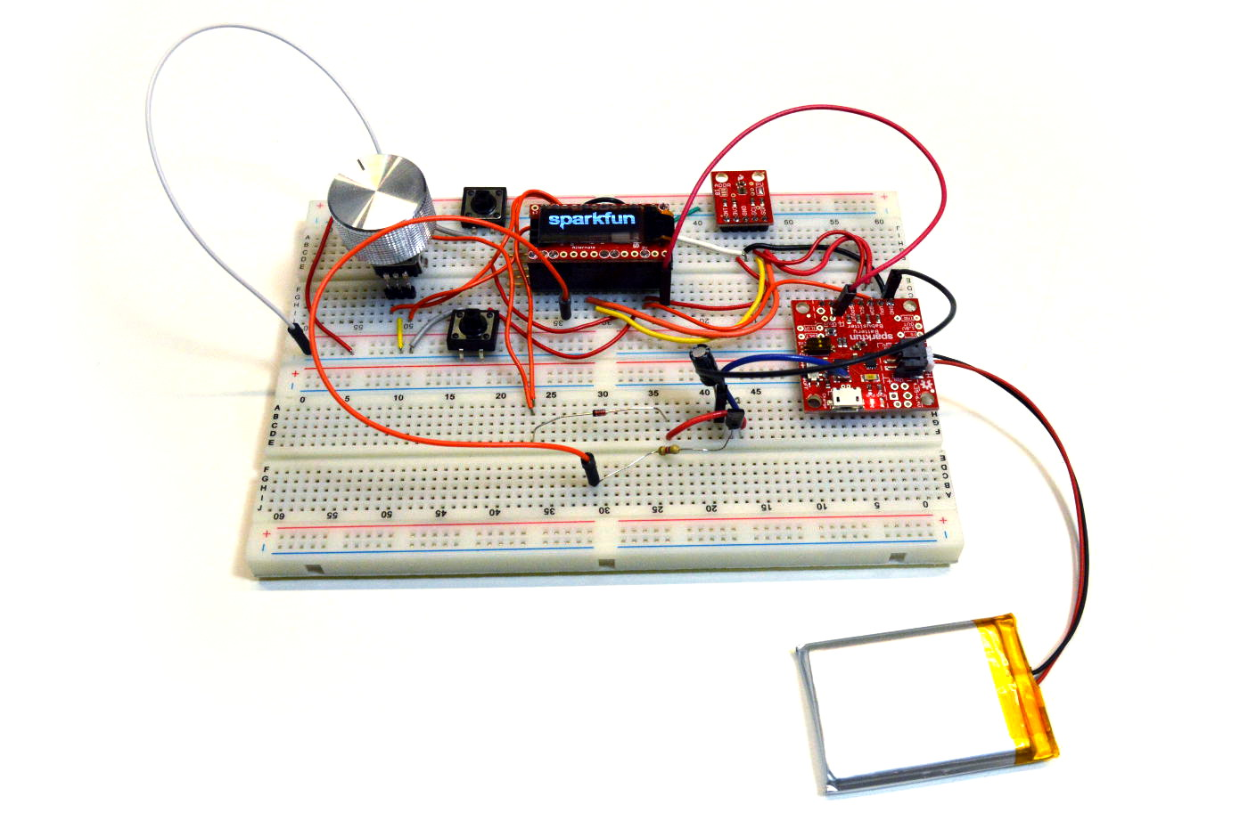 Enginursday Battery Management News Sparkfun Electronics Working Forum Circuits Projects And Microcontrollers Before Stuffing The Project In Box Entire Was Developed On A Breadboard This Allows Question To Be Tested