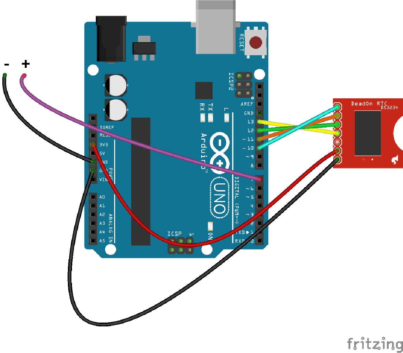 Electronic Dice Wiring Circuit