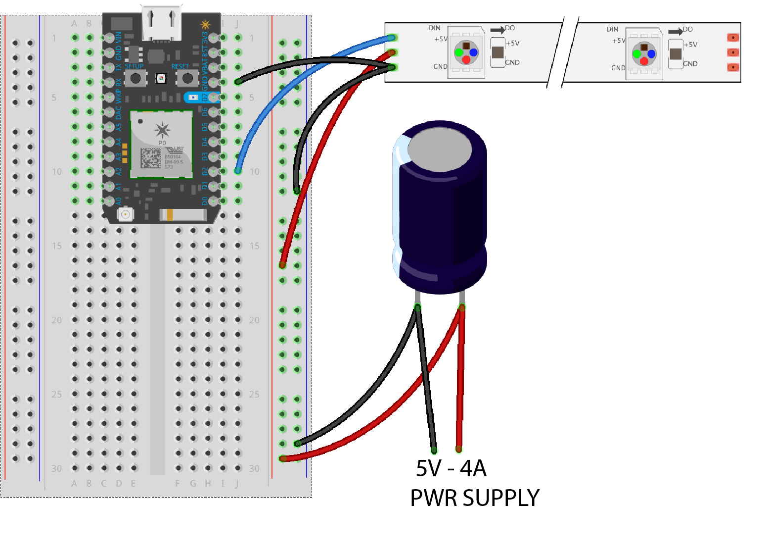 Iotuesday Diy Smart Backlit Mountain Scene News Sparkfun Start Stop Station Wiring Diagram Parallel Having A Hard Time Seeing The Circuit Click On For Closer Look