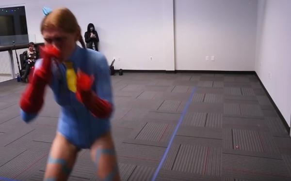 Megan kicking butt on the runway