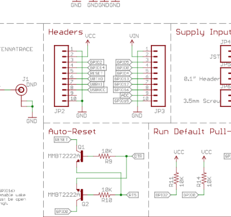 Snippet of a SparkFun Schematic