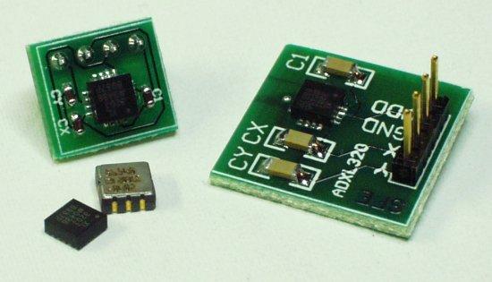 ADXL320 breakout boards