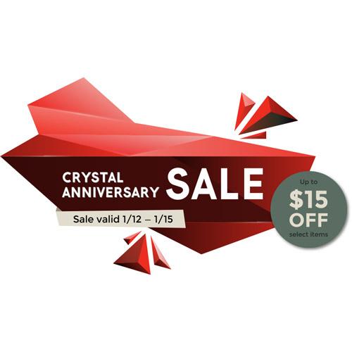 Crystal Anniversary Sale