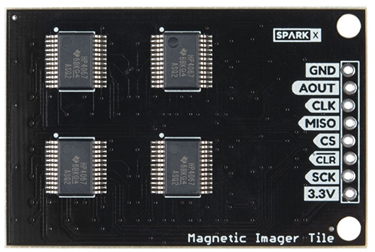 Example labels on the Magnetic Imaging Tile