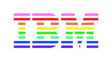 IBM Logo in rainbow colors