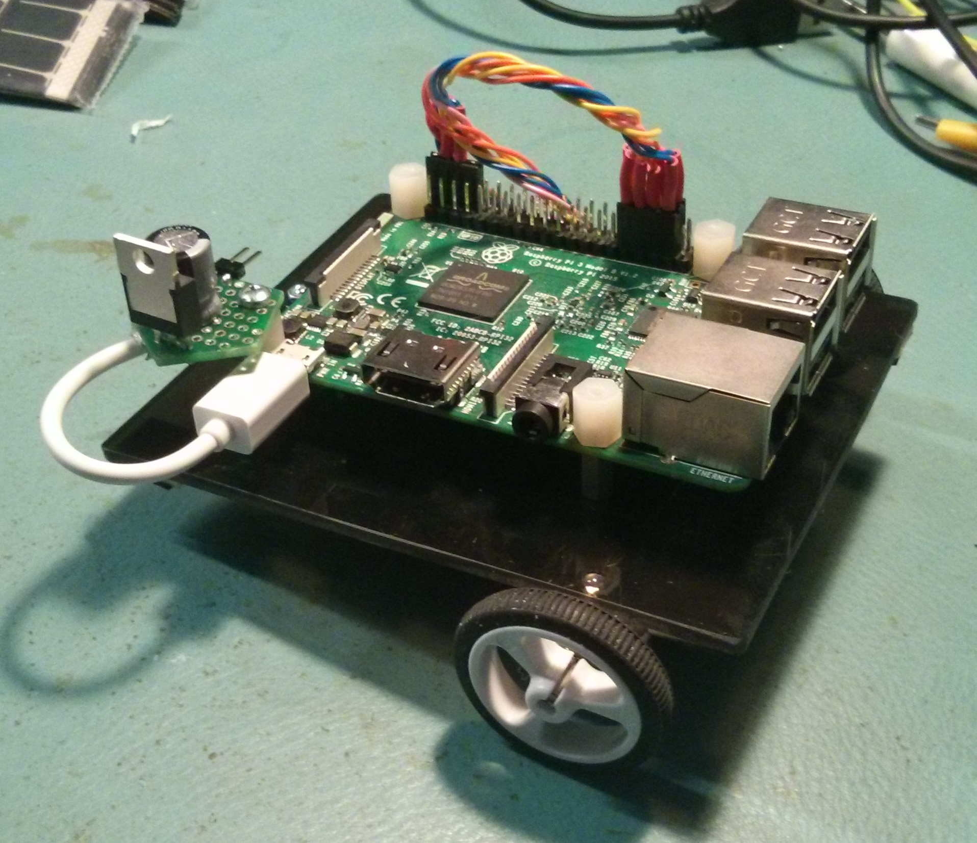 Hackbot In The Morning Iot Expert 555 Bistable Circuit Electronics Meccano Finished Raspberry Pi Bot
