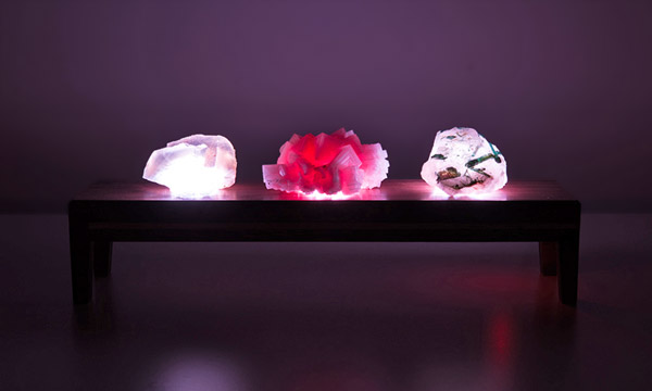 Underlit crystals lights off