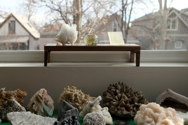 Mineral Display at window - bright