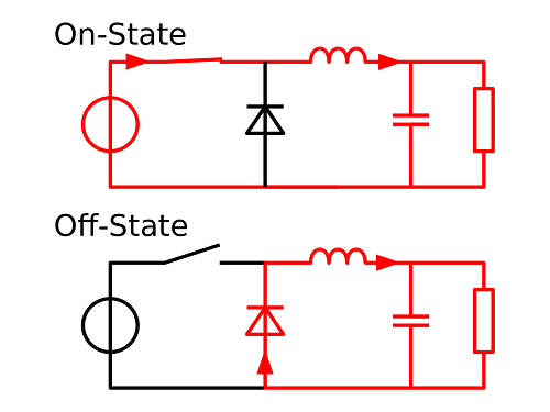 Buck Converter Switching Circuit