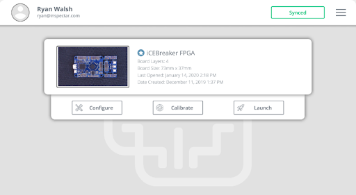 Project Dashboard showing an iCEBreaker FPGA Development Board, available on SparkFun