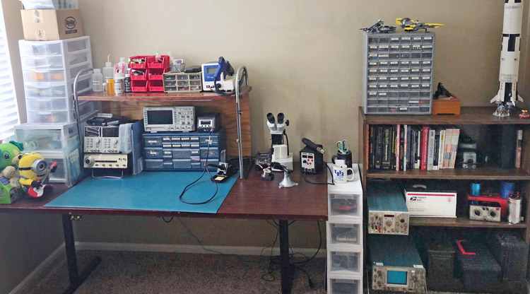tidy electronics engineering workbench